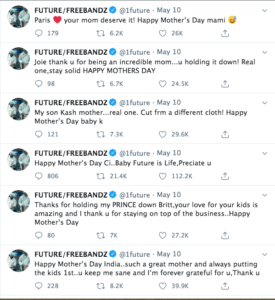Future Tweets Message On Mother's Day To Each Of His Children's Mother's