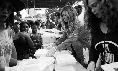 Beyonce serving food